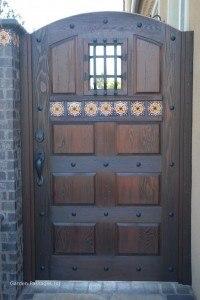 Designer Wood Gates #V2