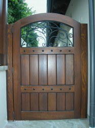 Designer Wood Gates #V4