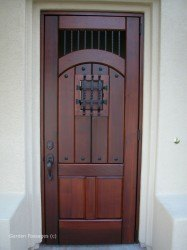 Designer Wood Gates #V7