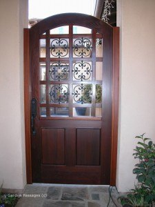 Designer Wood Gates #V8