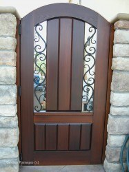 Designer Wood Gates #V9