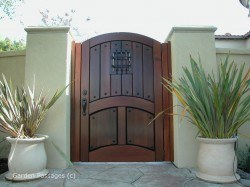 Designer Wood Gates #H1