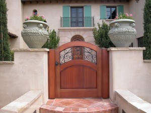 Designer Wood Gates #H14