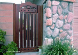 Designer Wood Gates #H15