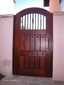 Premium Wood Gates #V8