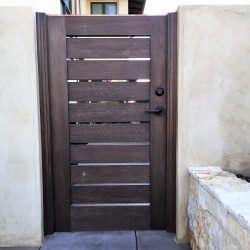 Modern Wood Gate #304