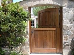Designer Wood Gates #H16