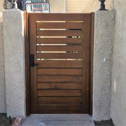 Modern Wood Gate #317